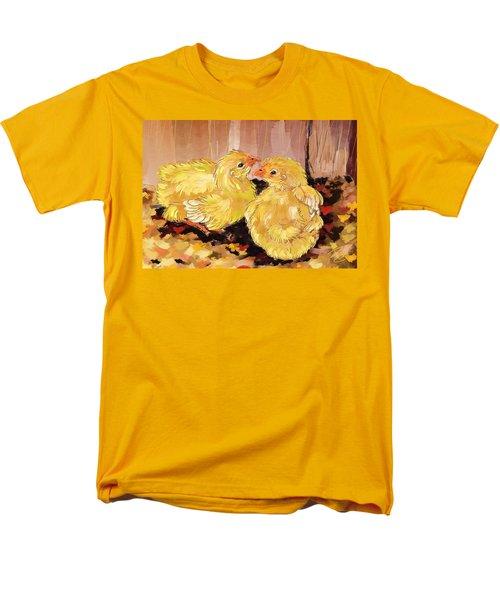 Two Baby Cornish Chicks Men's T-Shirt  (Regular Fit) by Debra Baldwin