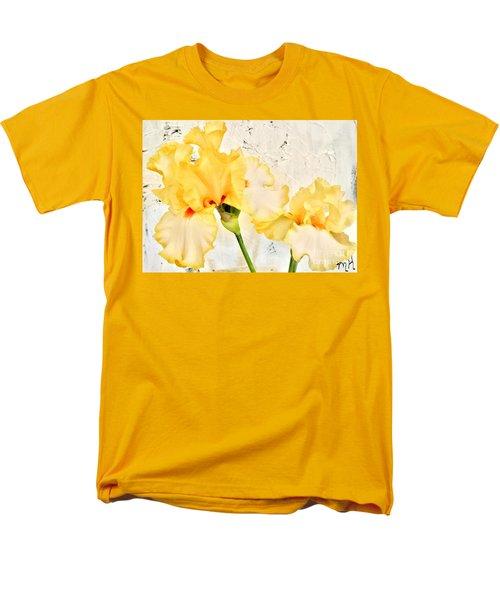 Two Yellow Irises Men's T-Shirt  (Regular Fit) by Marsha Heiken