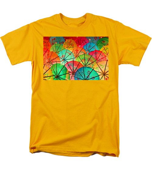Umbrellas Galore Men's T-Shirt  (Regular Fit) by Bobby Villapando