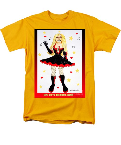 Men's T-Shirt  (Regular Fit) featuring the painting Vannieh-the Disco-queen Of The Nineties by Don Pedro De Gracia