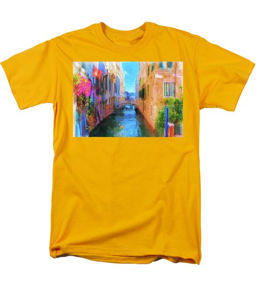 Venice Canal Painting Men's T-Shirt  (Regular Fit) by Michael Cleere