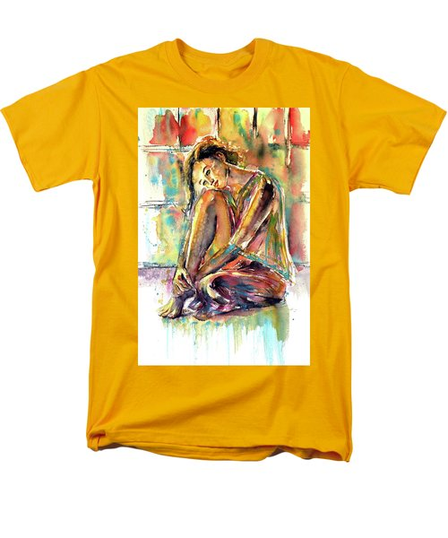 Men's T-Shirt  (Regular Fit) featuring the painting Waiting For You by Kovacs Anna Brigitta