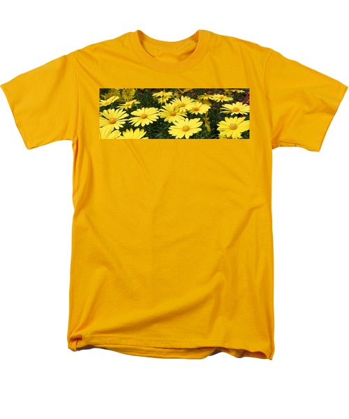 Waves Of Yellow Daisies Men's T-Shirt  (Regular Fit) by Bruce Bley