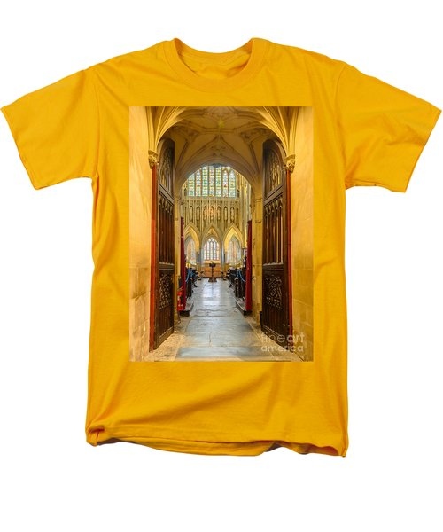 Men's T-Shirt  (Regular Fit) featuring the photograph Wellscathedral, The Quire by Colin Rayner