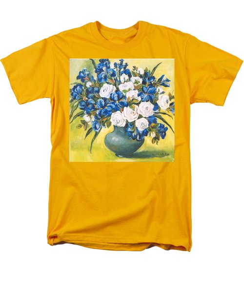 White Roses Men's T-Shirt  (Regular Fit) by Alexandra Maria Ethlyn Cheshire