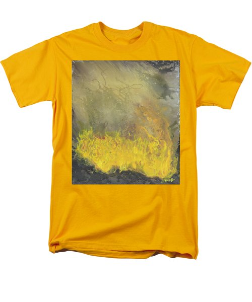 Men's T-Shirt  (Regular Fit) featuring the painting Wildfire by Antonio Romero