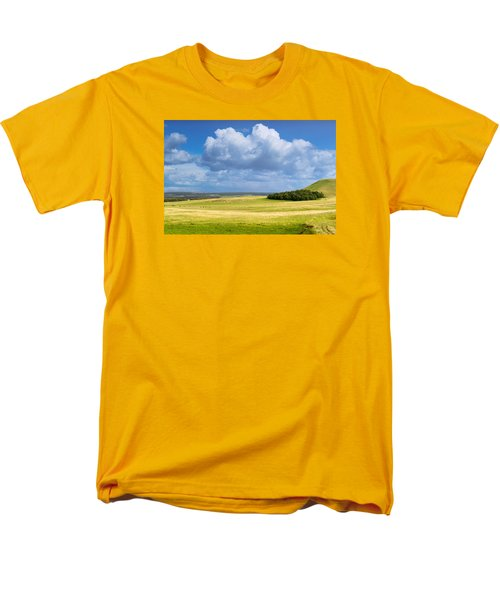 Wood Copse On A Hill Men's T-Shirt  (Regular Fit) by John Williams