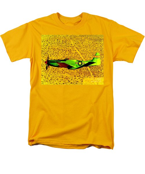 Wwll P51 Mustang  Men's T-Shirt  (Regular Fit) by Greg Moores