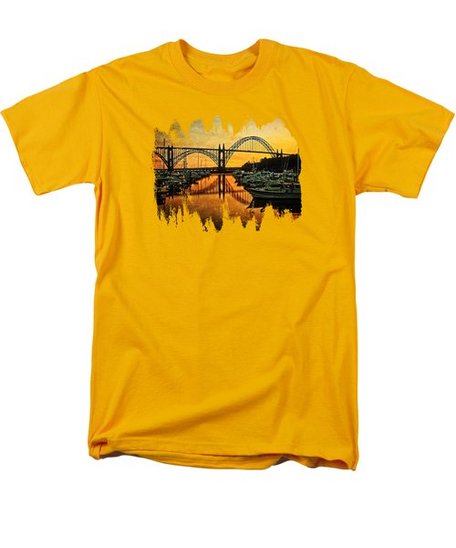 Yaquina Bay View On Metal Original Men's T-Shirt  (Regular Fit) by Thom Zehrfeld