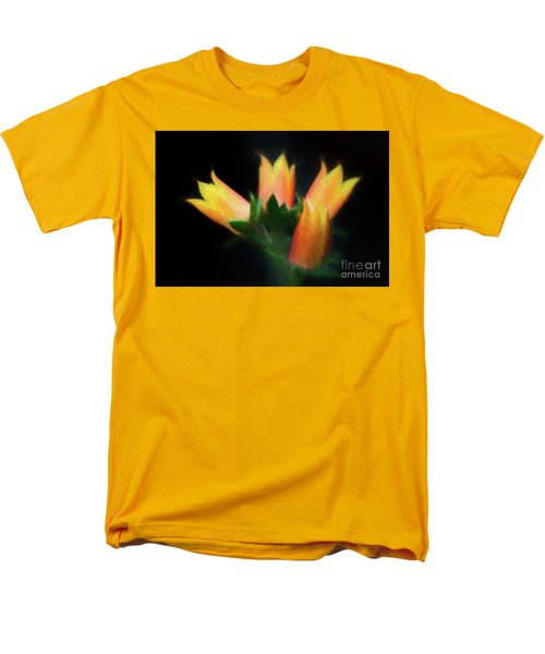 Yellow Cactus Flowers Men's T-Shirt  (Regular Fit) by Darleen Stry