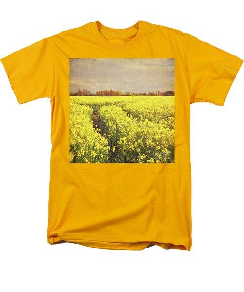Yellow Field Men's T-Shirt  (Regular Fit) by Lyn Randle
