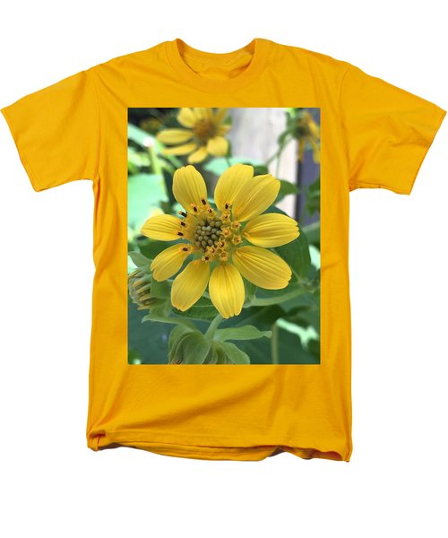 Yellow Flower Men's T-Shirt  (Regular Fit) by Kay Gilley