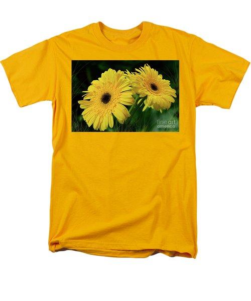 Men's T-Shirt  (Regular Fit) featuring the photograph Yellow Gerbera Daisies By Kaye Menner by Kaye Menner