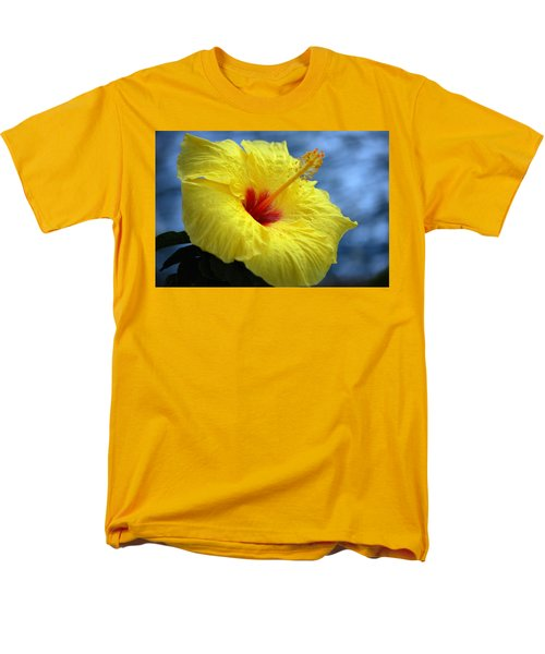 Men's T-Shirt  (Regular Fit) featuring the photograph Yellow Hibiscus by Debbie Karnes