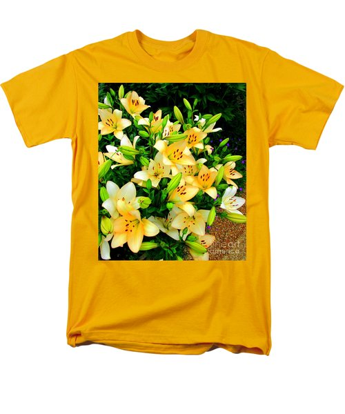 Men's T-Shirt  (Regular Fit) featuring the photograph Yellow Lilies 2 by Randall Weidner