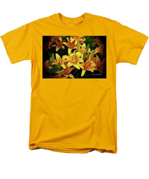 Men's T-Shirt  (Regular Fit) featuring the photograph Yellow Lilies by Joann Copeland-Paul