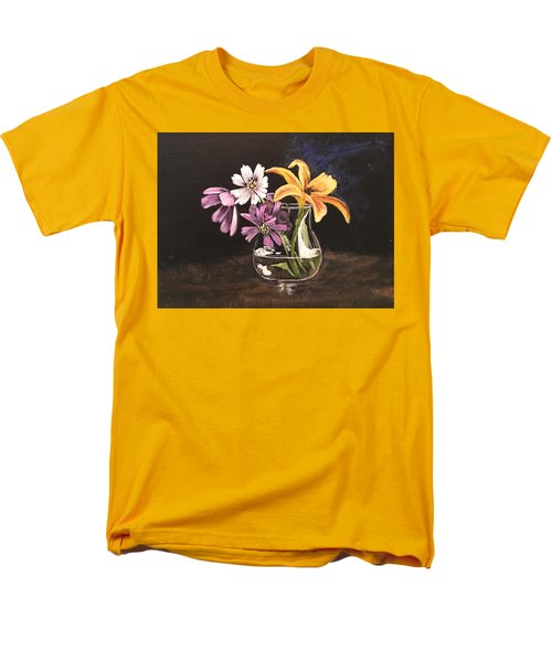 Yellow Lily Men's T-Shirt  (Regular Fit) by Sharon Schultz