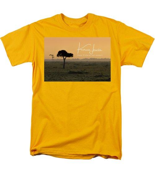 Men's T-Shirt  (Regular Fit) featuring the photograph Yellow Mara Dawn by Karen Lewis
