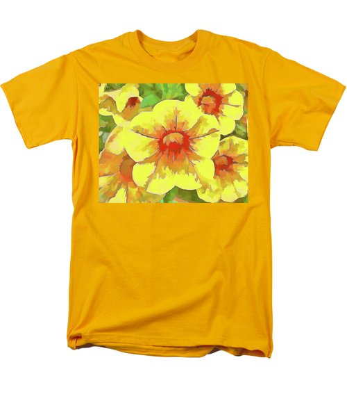 Yellow Million Bells Men's T-Shirt  (Regular Fit)