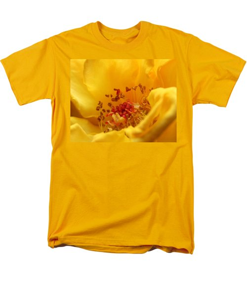 Men's T-Shirt  (Regular Fit) featuring the photograph Yellow Mini Macro by Marna Edwards Flavell