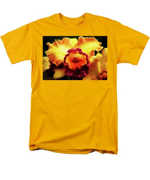 Men's T-Shirt  (Regular Fit) featuring the photograph Yellow-purple Orchid by Anthony Jones