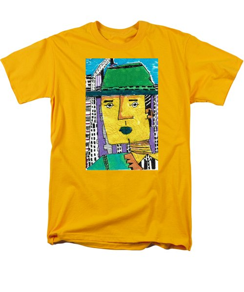 Men's T-Shirt  (Regular Fit) featuring the tapestry - textile Yellowman by Don Koester