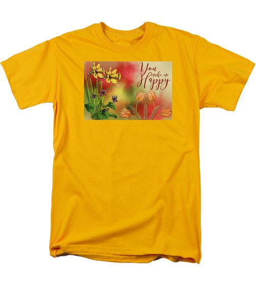 You Make Me Happy Men's T-Shirt  (Regular Fit) by Diana Boyd