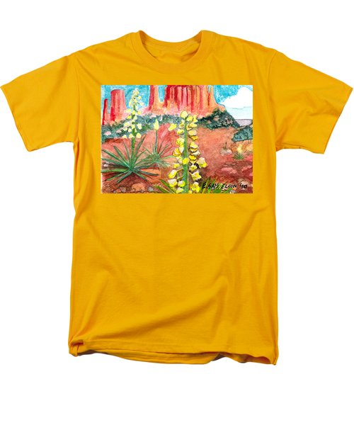 Yucca In Monument Valley Men's T-Shirt  (Regular Fit) by Eric Samuelson