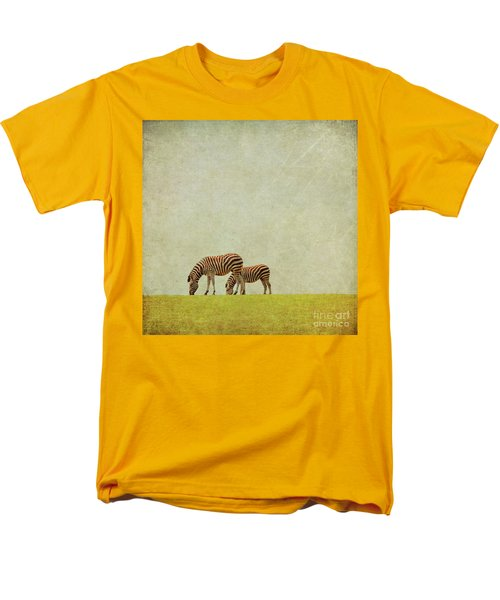 Zebra Men's T-Shirt  (Regular Fit) by Lyn Randle