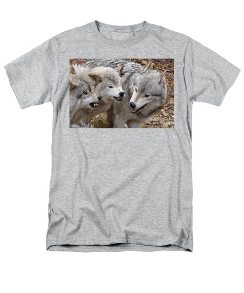 Men's T-Shirt  (Regular Fit) featuring the photograph  Alpha Displeasure 2 by Wolves Only