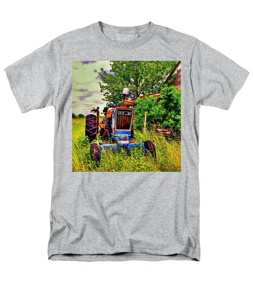 Old Ford Tractor Men's T-Shirt  (Regular Fit) by Savannah Gibbs