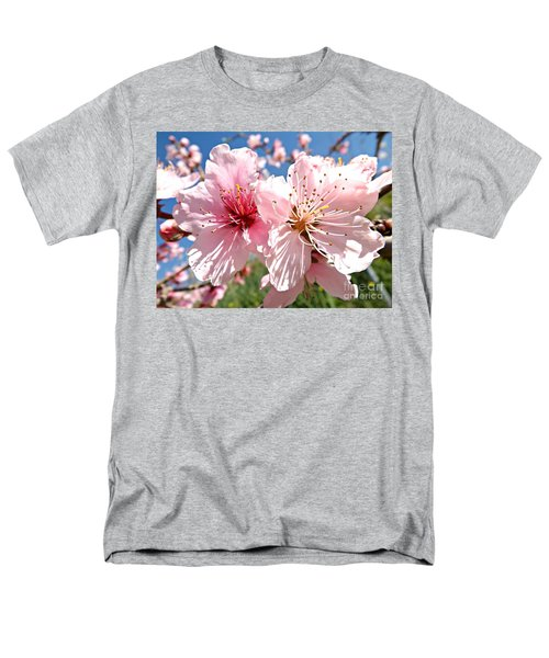 Peach Blossom Men's T-Shirt  (Regular Fit) by Clare Bevan