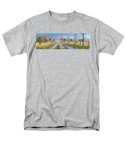 Men's T-Shirt  (Regular Fit) featuring the painting Bless Thy Fertile Soil by Mike Brown