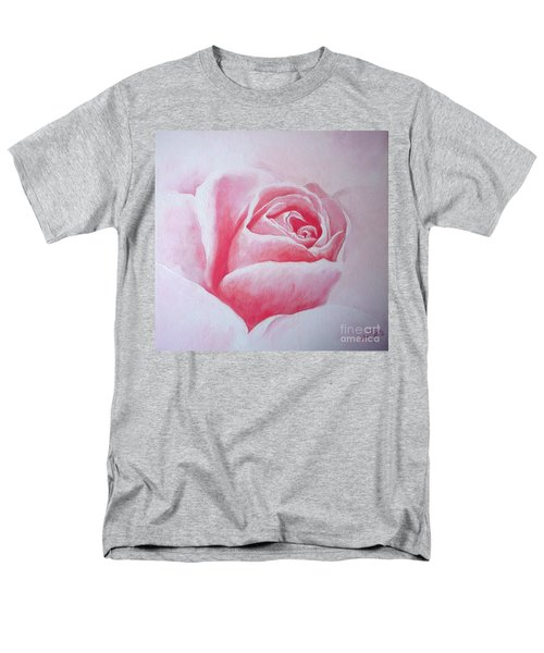 Men's T-Shirt  (Regular Fit) featuring the painting English Rose by Sandra Phryce-Jones