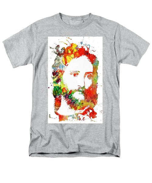 Jesus Christ - Watercolor Men's T-Shirt  (Regular Fit) by Doc Braham