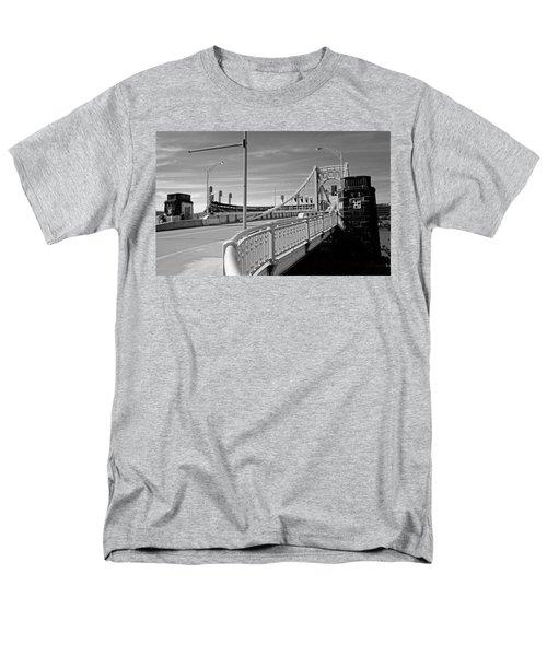 Pittsburgh - Roberto Clemente Bridge Men's T-Shirt  (Regular Fit) by Frank Romeo