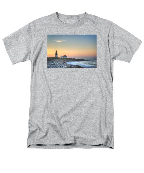 Point Judith Lighthouse Men's T-Shirt  (Regular Fit) by Juli Scalzi
