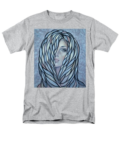 Men's T-Shirt  (Regular Fit) featuring the painting Silver Nymph 021109 by Selena Boron