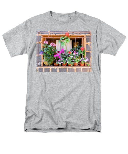 Flowers In A Mexican Window Men's T-Shirt  (Regular Fit) by David Perry Lawrence