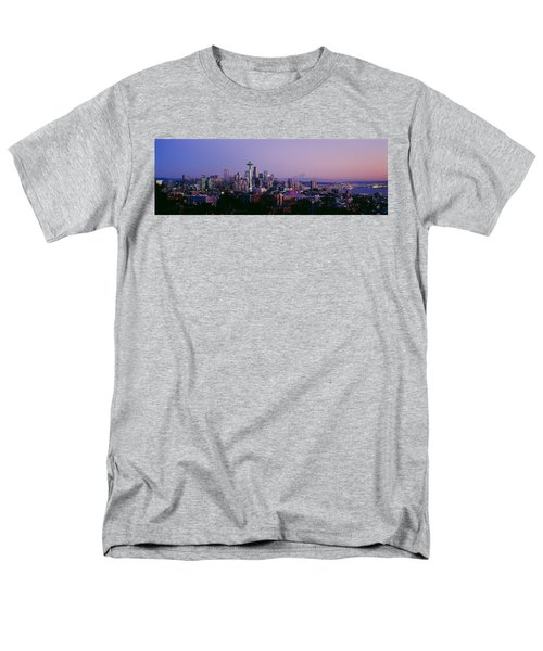 High Angle View Of A City At Sunrise Men's T-Shirt  (Regular Fit) by Panoramic Images