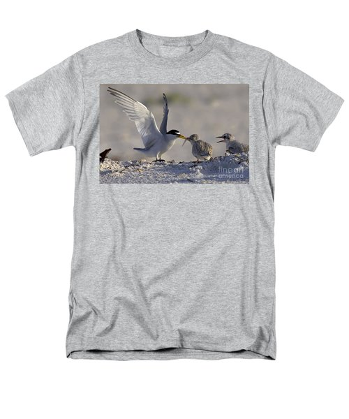 Least Tern Feeding It's Young Men's T-Shirt  (Regular Fit) by Meg Rousher