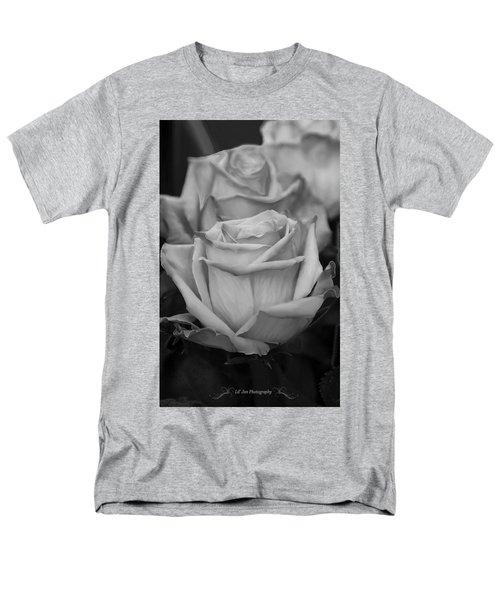 Tea Roses In Black And White Men's T-Shirt  (Regular Fit) by Jeanette C Landstrom