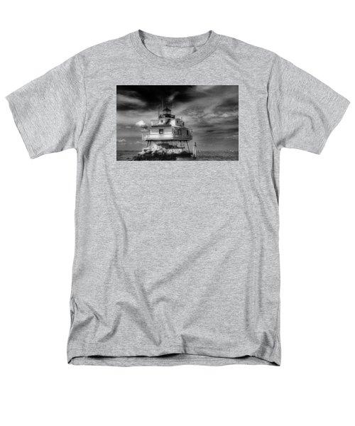 Thomas Point Shoal Lighthouse Men's T-Shirt  (Regular Fit) by Skip Willits