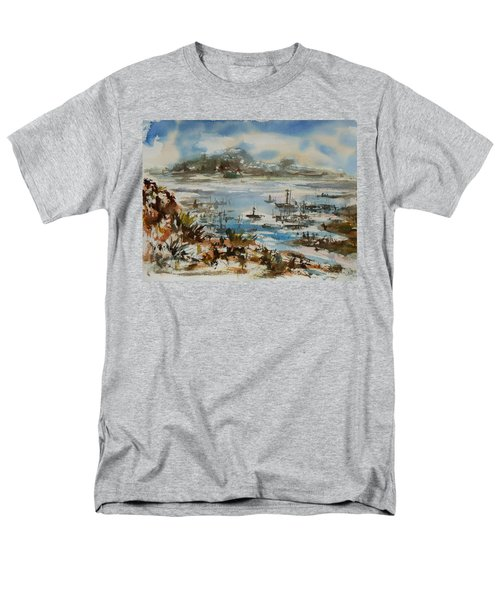 Men's T-Shirt  (Regular Fit) featuring the painting Bay Scene by Xueling Zou