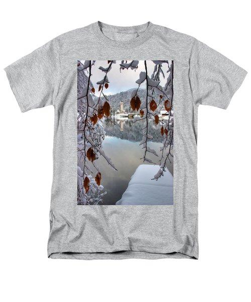 Lake Bohinj In Winter Men's T-Shirt  (Regular Fit) by Ian Middleton