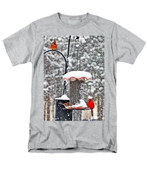 A Cardinal Winter Men's T-Shirt  (Regular Fit) by Lydia Holly