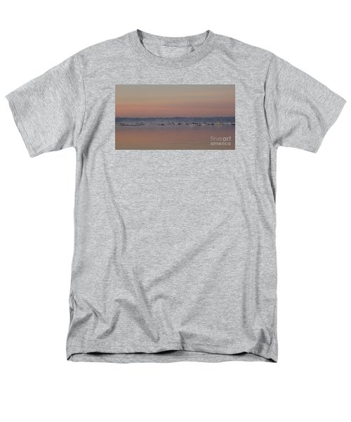 Men's T-Shirt  (Regular Fit) featuring the photograph A Foggy Fishing Day by John Telfer