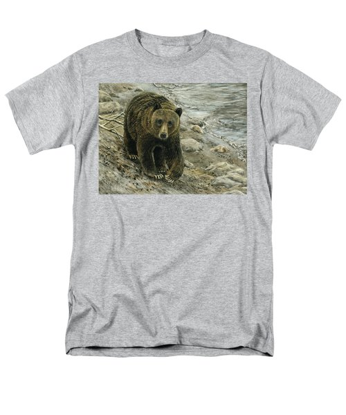A Grey And Grizzly Day Men's T-Shirt  (Regular Fit) by Sandra LaFaut