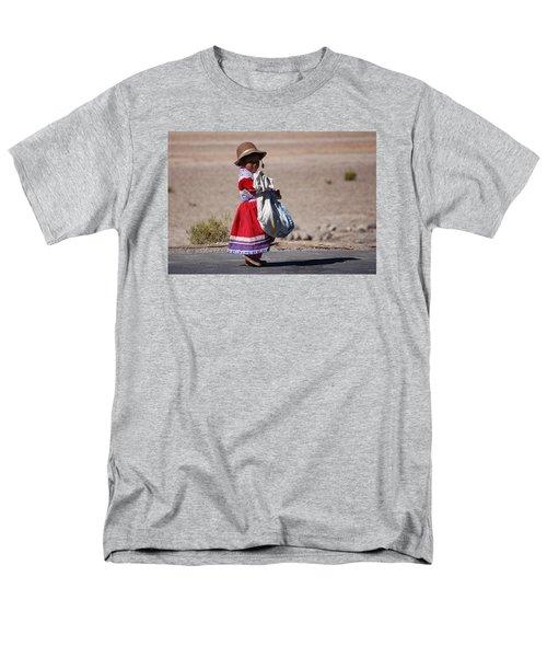 A Little Girl In The  High Plain Men's T-Shirt  (Regular Fit) by RicardMN Photography