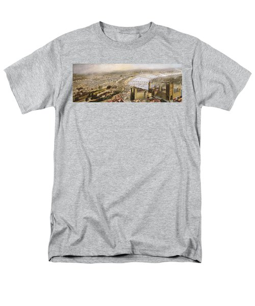 A Panoramic View Of London Men's T-Shirt  (Regular Fit) by English School